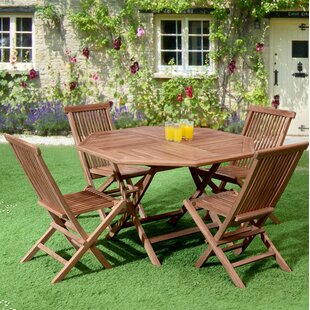 Loon Peak Reade 5 Piece Teak Dining Set