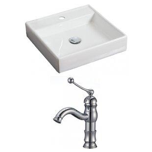 Comparison Ceramic Square Vessel Bathroom Sink with Faucet ByAmerican Imaginations