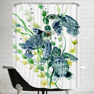 Thee Sea Turtles Single Shower Curtain
