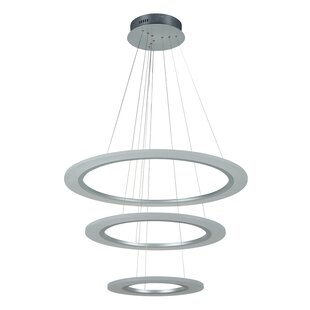 Halo pendant light wayfair halo 3 light led geometric pendant aloadofball Image collections