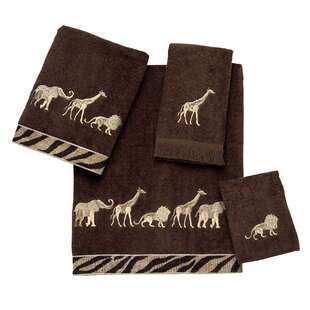 Animal Parade 4 Piece 100% Cotton Towel Set