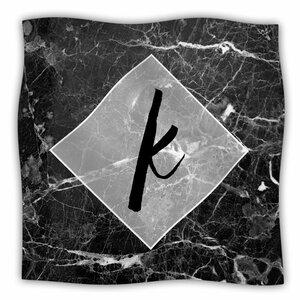 Marble Monogram Fleece Throw