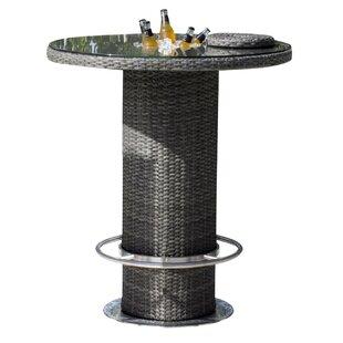 Saliba Glass Bar Table by Latitude Run