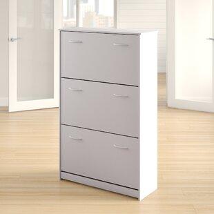 Rebrilliant Triple 14-Pair Shoe Storage Cabinet