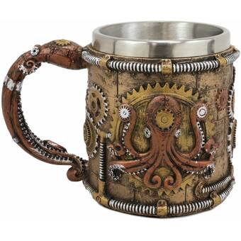World Menagerie Horing Steampunk Detective Skull Melamine Coffee Mug Wayfair