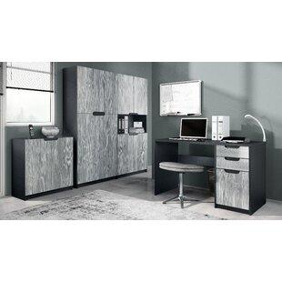 Logan 4 Piece Standard Desk Office Suite By Vladon