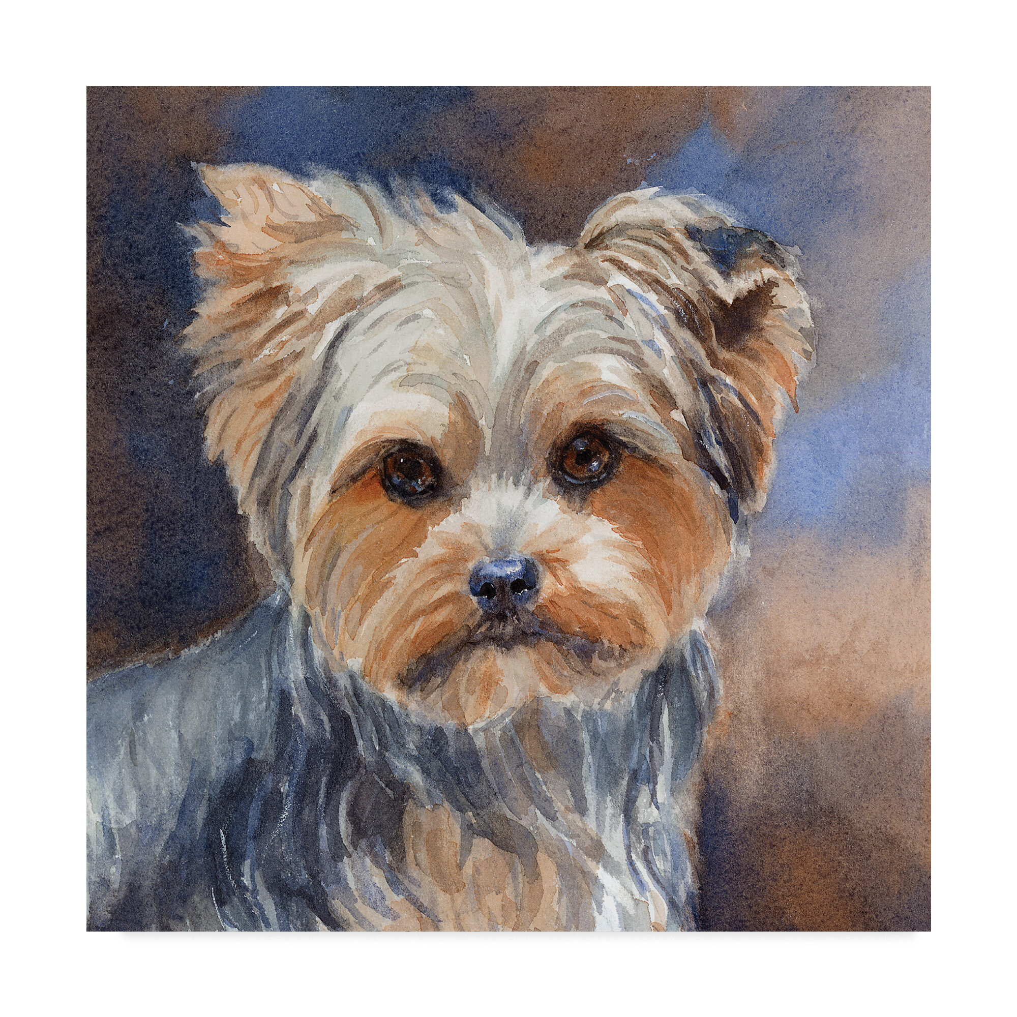 Home of Yorkshire Terrier Dogs Playing Poker Canvas Wall Art