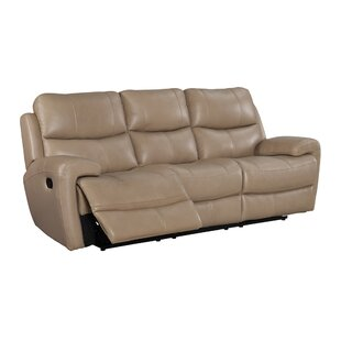 Gasser Leather Reclining Sofa by Red Barrel Studio