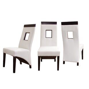 Vida Genuine Leather Upholstered Dining Chair (Set of 2)