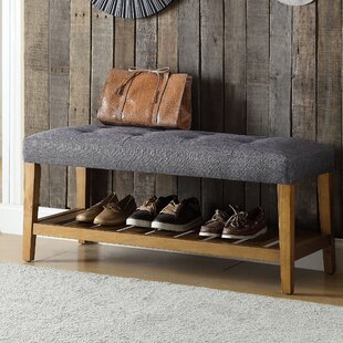 Charlton Home Warwickshire Wood Storage Bench