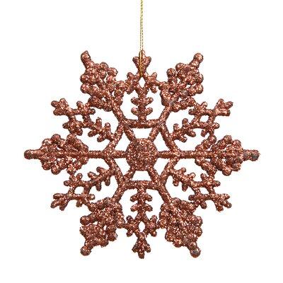 Glitter Snowflake Christmas Shaped Ornament Color: Mocha