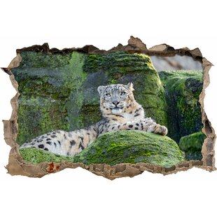 Relaxing Snow Leopard Wall Sticker By East Urban Home