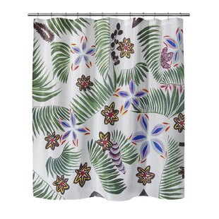 Bay Isle Home Oberlin Palm Special Shower Curtain