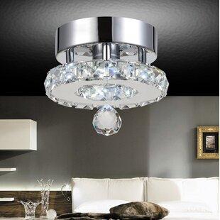 Orren Ellis Bacon 6-Light LED Flush Mount