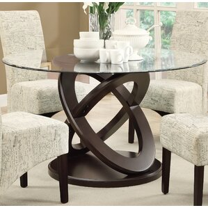 acres woodglass dining table