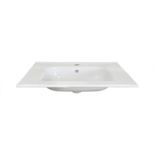 Ceramic 32 Single Bathroom Vanity Top By Dawn USA