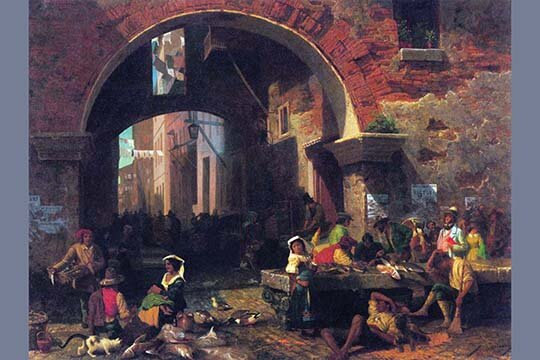 Buyenlarge The Arch Of Octavius Roman Fish Market By Albert Bierstadt Graphic Art Wayfair