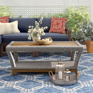 Kincaid  Solid Wood Coffee Table by Rosecliff Heights