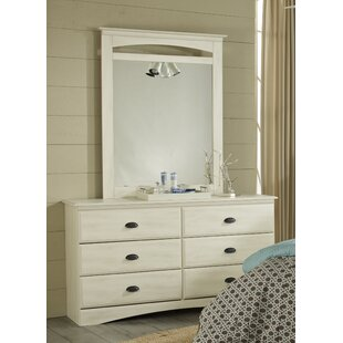 Durand 6 Drawer Double Dresser with Mirror
