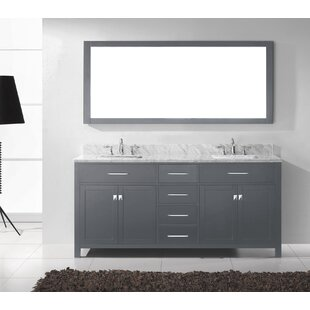 Compare Kenilworth 71 Double Bathroom Vanity Set with Mirror By Highland Dunes