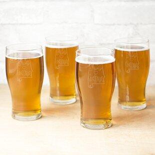 My State 19 oz. Beer Pilsner Glass (Set of 4)