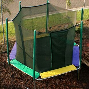 Kidwise 12 ft. Hexagon Trampoline with Enclosure