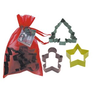 3 Piece Christmas Cookie Cutter Set In Bag By R & M International Corp.