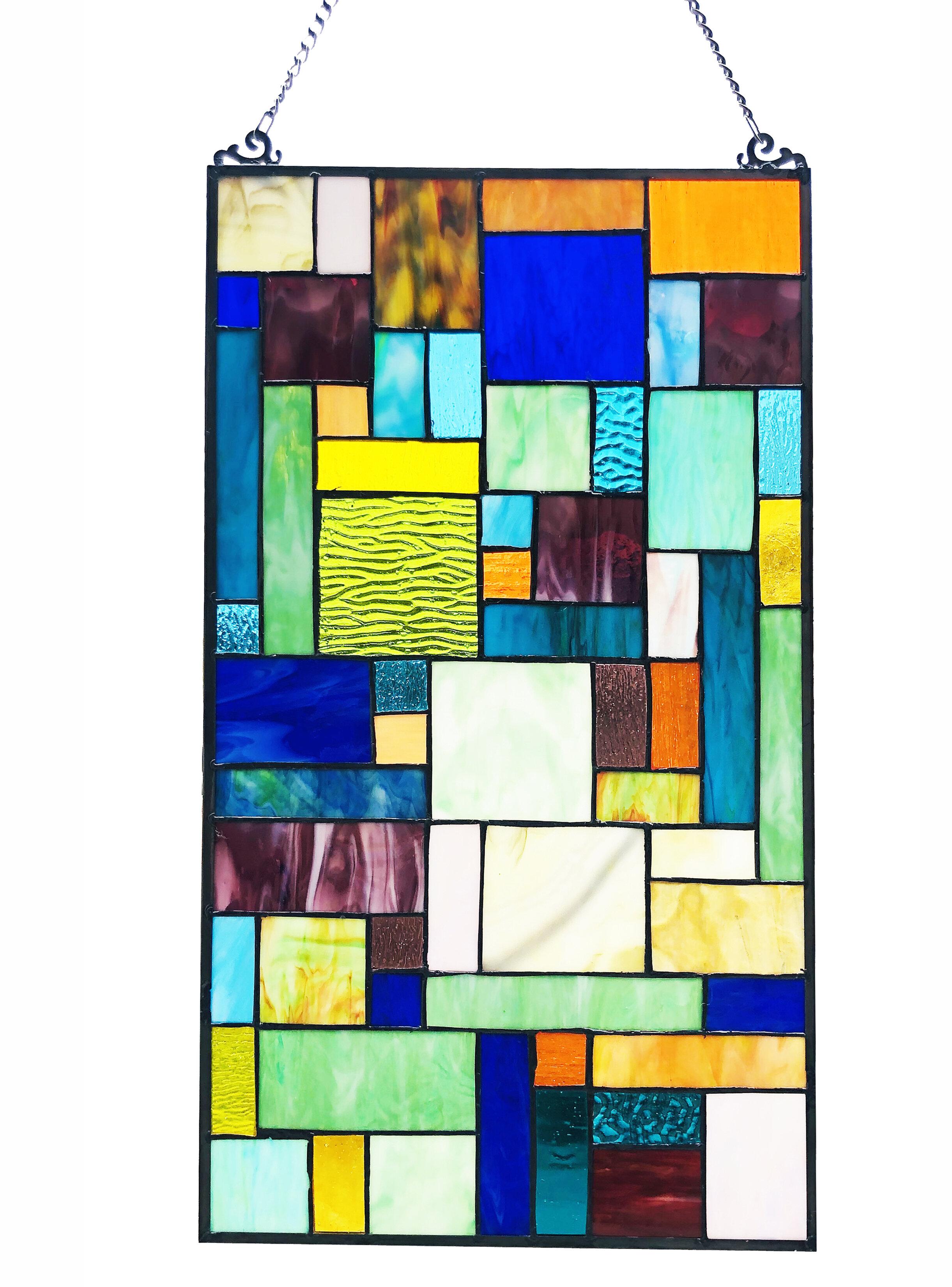 Rosalind Wheeler Michelle Stained Glass Window Panel Wayfair