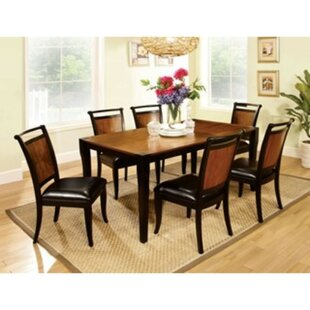 Woolum 7 Piece Solid Wood Dining Set by R..