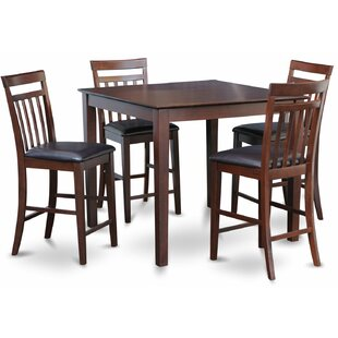 5 Piece Counter Height Pub Table Set East West Furniture