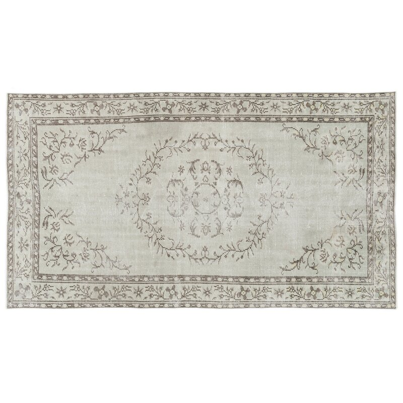 Bespoky Vintage Rugs One Of A Kind Oriental Hand Knotted 4 11 X 8 10 Wool Cotton Beige Area Rug Perigold