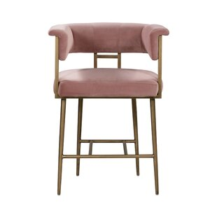Titan Velvet Counter 26 Bar Stool Mercer41