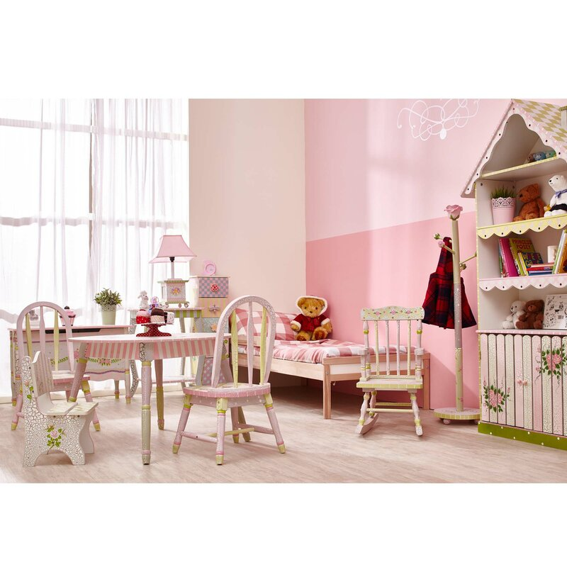 Fantasy Fields Crackled Rose Kids 3 Piece Table and Chair Set ...