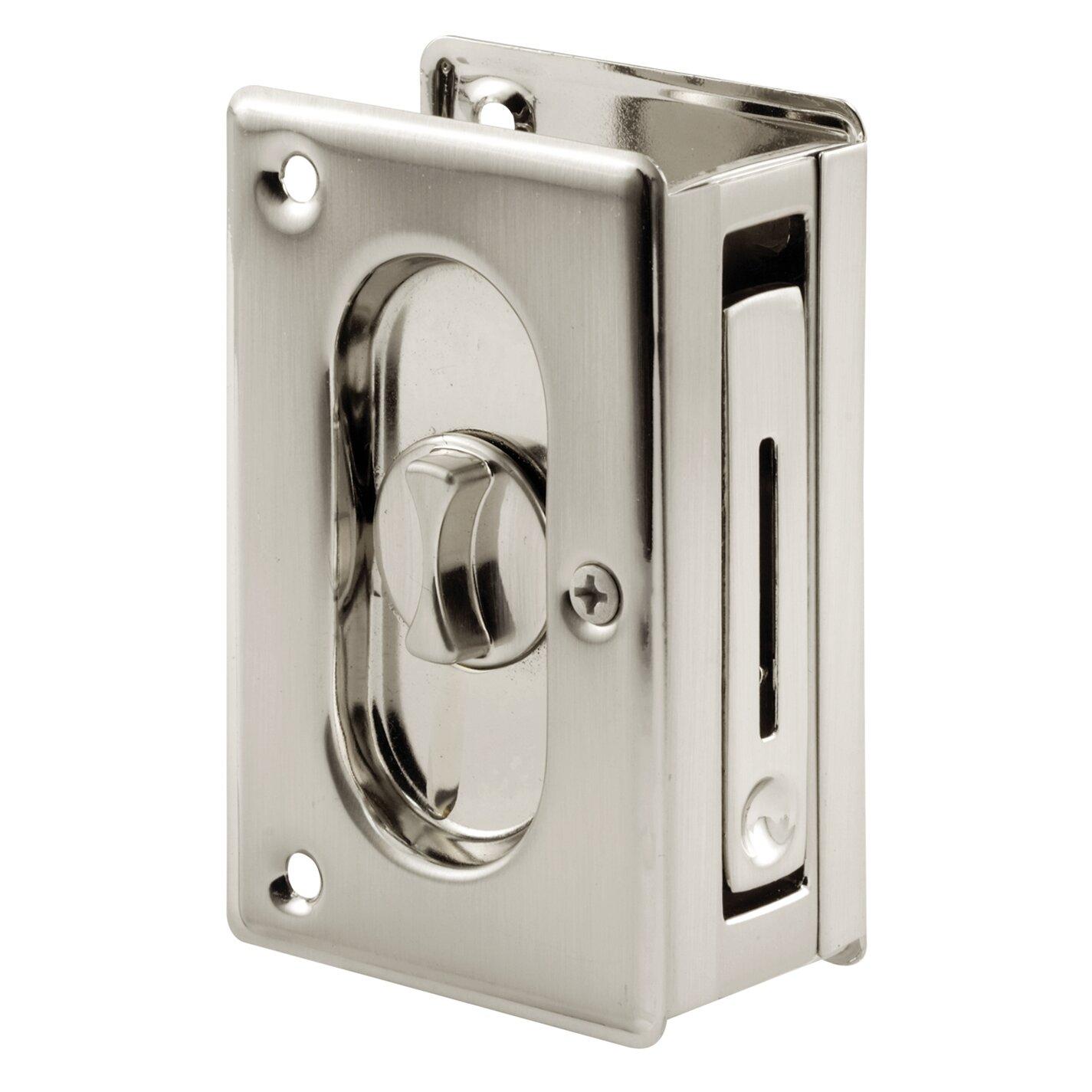 Primeline Privacy Lock With Pull Pocket Door Hardware Wayfair