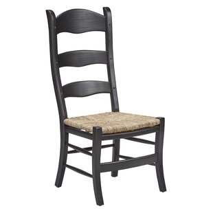 Bartolome Ladderback Solid Wood Dining Chair (Set of 2) August Grove