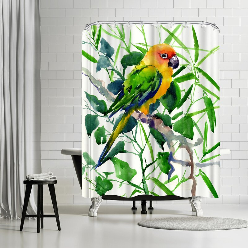 East Urban Home Suren Nersisyan Sun Conure Suren Single Shower Curtain Wayfair
