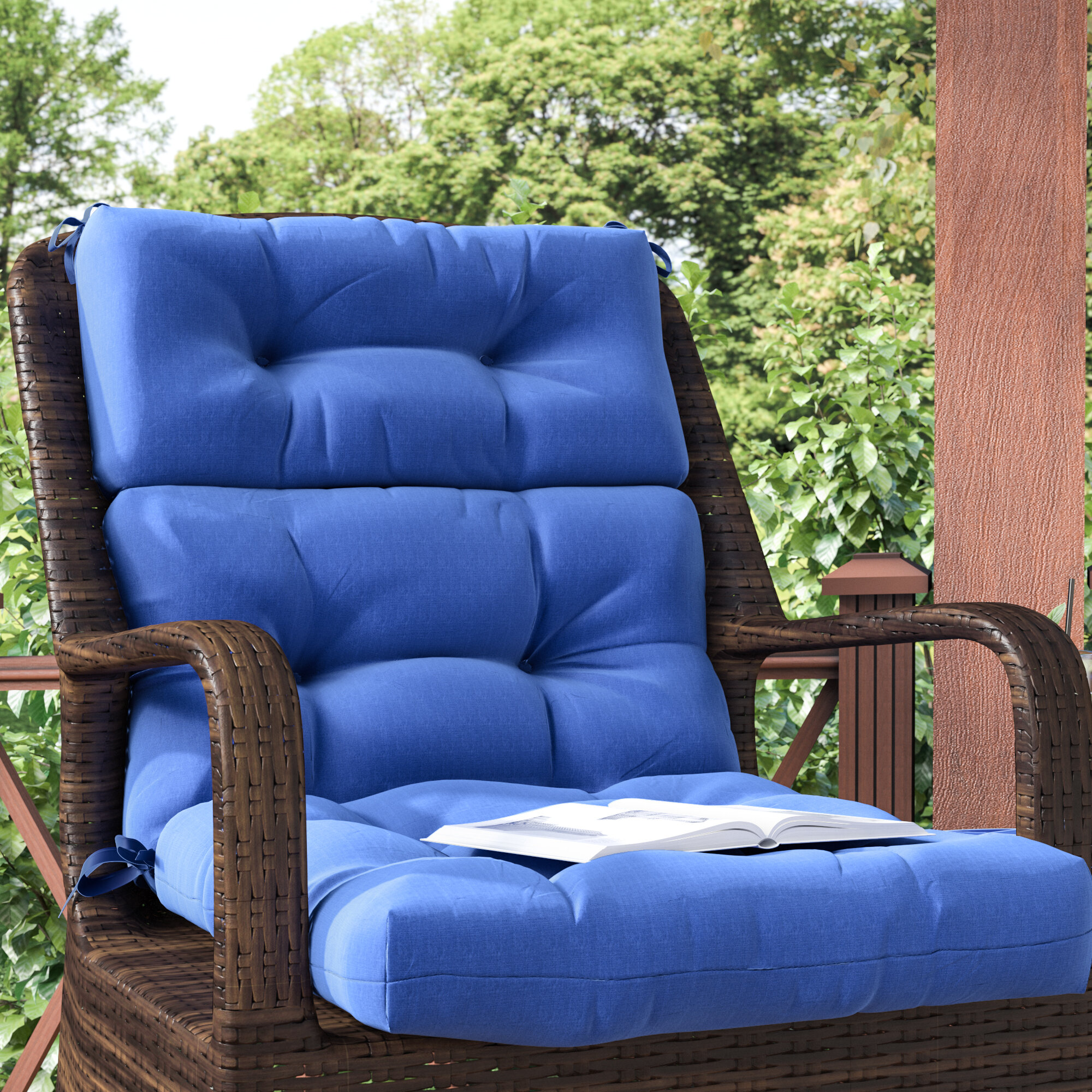 Andover Mills Sarver Indoor Outdoor Lounge Chair Cushion Reviews