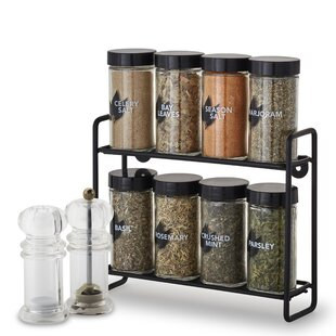 Wire 8 Jar Spice Rack
