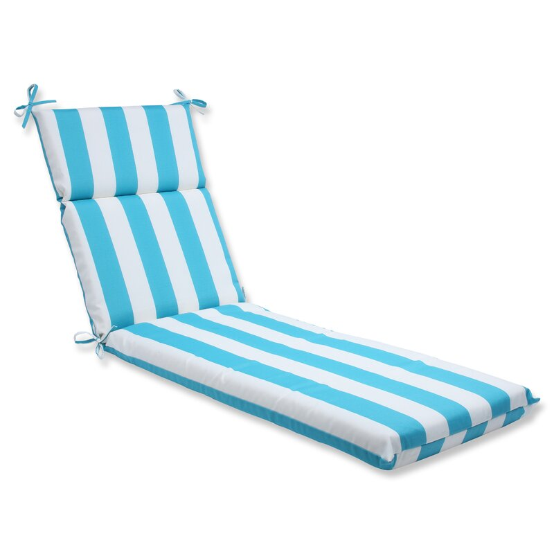 Cabana Stripe Indoor Outdoor Chaise Lounge Cushion