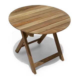 Pedersen Folding Teak Round Bistro Table by Bay Isle Home Modern