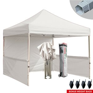 Premium 10 Ft. W x 10 Ft. D Metal Pop-Up Canopy