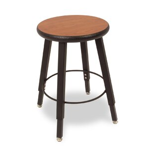 Adjustable Height Round Laminate Armor Edge Seat 4 Leg Stool