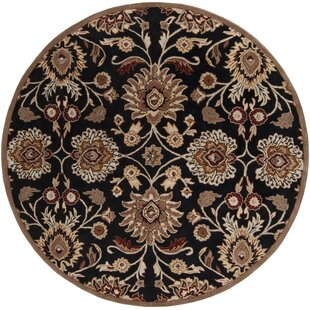 Phoebe Hand-Tufted Wool Black/Brown Area Rug by Birch Lane™ Heritage