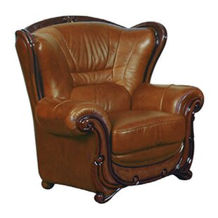 Noci Design Wood Trim Armchair