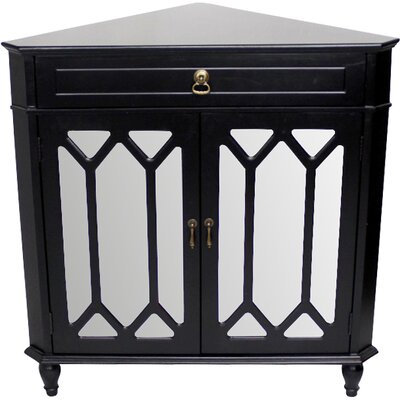 Bridges 2 Door Accent Cabinet Color: Black by Darby Home Co