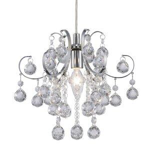 Price comparison Tessa 1-Light Crystal Mini Pendant By Canarm
