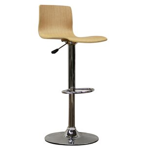 Orren Ellis Utley Adjustable Height Swivel Bar Stool