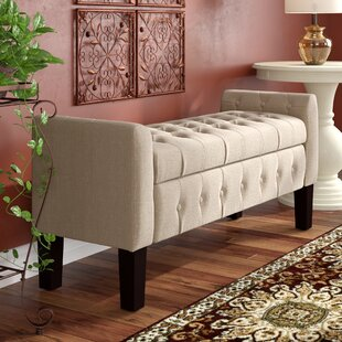 Three Posts Borba Upholstered Storage Bench