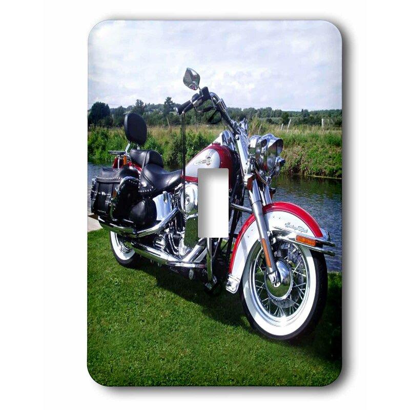 3drose Flstc Fat Boy Motorcycle 1 Gang Toggle Light Switch Wall Plate Wayfair