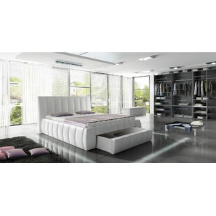 Danvers Modern European Kingsize Upholstered Storage Platform Bed